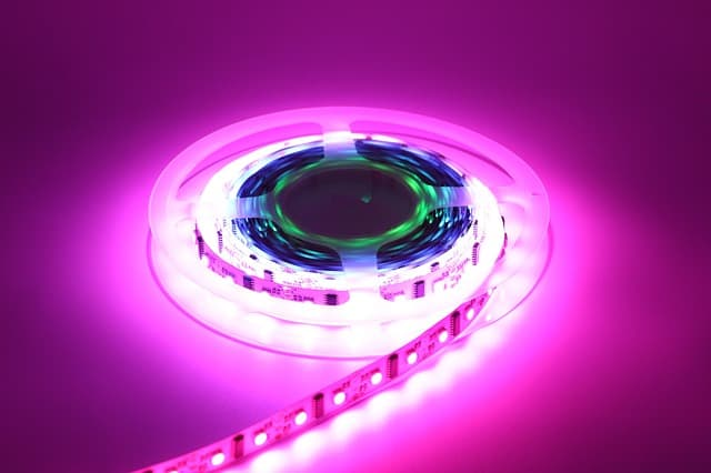 A luminous colored thing that looks like a film role